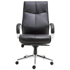Executive Office Armchair - Chrome Frame Black - Verona Office Revolving Chair