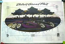 1982 Detroit Grand Prix Poster Printed /& signed by the Photographer