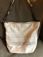 Elliott lucca Women's Bali 89 Anakan Shoulder Bag Woven/Perforated Leather Stone