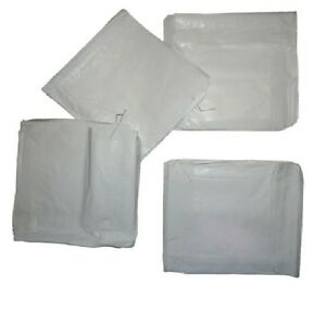 """1000 Greaseproof Paper Bags White 6"""" x 6"""" Food Takeaway / Catering"""