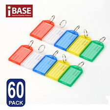 60x Key Rings Indicate Luggage Tag ID Label Travel Suitcase Identity Name Card