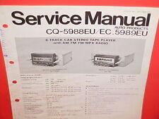 PANASONIC 8-TRACK/AM/FM/MPX RADIO FACTORY SERVICE MANUAL CQ-5988EU 5988EC 5989EU