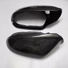 for Audi A6 11-18 C7 car mirror cover ABS + carbon fiber with Side Assist 1 pair