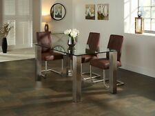 Murcia Dining Table Rectangular 10mm Tempered Glass Top and Stainless Steel Legs