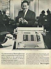 B- Publicité Advertising 1963 La machine à calculer Burroughs Mr Hervé Bijou MP