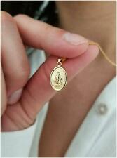 14 KT Gold Chain with  Miraculous Medal Necklace