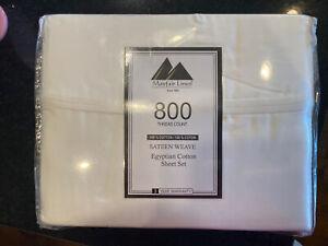 1 NIP Queen Set Mayfair Linen 800 Thread Count 100% Cotton Sateen Weave Egyptian