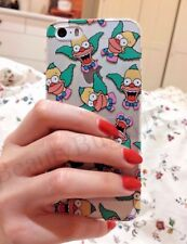 KRUSTY LE CLOWN Simpsons Doux Transparent étui coque iPhone 5/5s/SE 6/6s 7 8