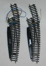 Modellbahnen der Spur H0 mit Weichen rechts und Messing Gleismaterialien für