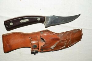 Vintage Schrade Knife USA 152 Sharpfinger Carbon Steel Sawcut Delrin