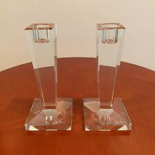 Beautiful crystal candleholders