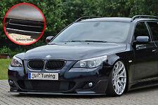 SPOILER spada FRONT SPOILER ABS per BMW 5er e60 e61 M-pacchetto ABE NERO LUCIDO