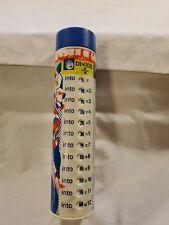 "Vintage Turn 'N Learn Plastic Pencil Box 7.5 "" Tall"