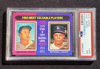 1975 Topps 1962 MVPs Baseball Card Mickey Mantle & Maury Wills #200 PSA NM 7