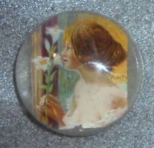 graphic antique clear glass paperweight advertising Antikamnia tablets