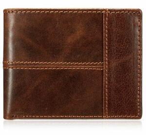 Men Wallet Vintage Brown Genuine Premium Leather Handmade Bifold