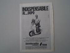 advertising Pubblicità 1965 LAMBRETTA J 50