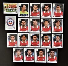 Panini FIFA World Cup Brazil 2014 Complete Team Chile + Foil Badge