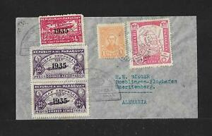PARAGUAY TO GERMANY ZEPPELIN AIR MAIL COVER 1934