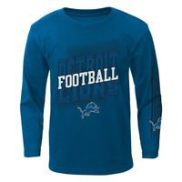 "Detroit Lions Outerstuff NFL Boys Blue ""Frequency"" Long Sleeve T-Shirt"