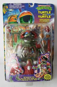 VINTAGE 1995 MINI MUTANT NINJA TURTLES TURTLE IN A TURTLE LEONARDO'S PLAYSET NEW
