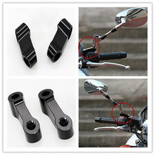 CNC 10mm Mirror Extenders Standard Thread Risers Adapters Motorcycle Scooter