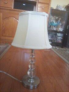 Brushed Nickel Bedside Lamp