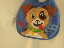 Blue Puppy Dog Baby Bib