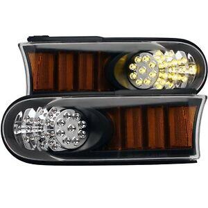 Anzo LED Parking Lights Black w/ Amber Reflector For 07-13 Toyota Fj Cruiser