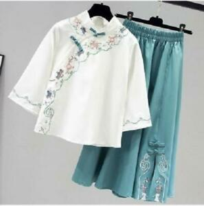 Chinese Style Han Dynasty Women Outfit Improved Cheongsam Qipao Girl Tang Suit