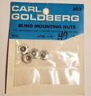 Carl Goldberg Blind Mounting Nuts Vintage Rc Airplane Hardware 303