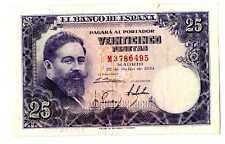 Billete de España 25 pesetas 1954 Isaac Albeniz M 3786495