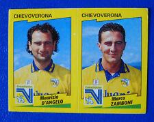 FIGURINA CALCIATORI PANINI 1996-97 - N.417 D'ANGELO/ZAMBONI - CHIEVOVERONA - new