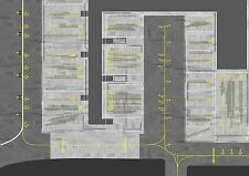 Birmingham BHX section Airport Apron Mat. 841mm x 1189mm. 1/400 Scale or 1/500