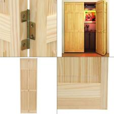 24 in. x 80 in. 24 in. Solid Core Unfinished Wood Interior Closet Bi Fold Door