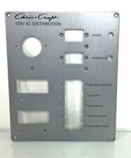 "Chris Craft 120V AC Main Distribution Instrument / Gauge Panel 9 1/16"" x 7 1/2"""