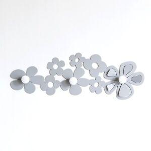 Appendiabiti attaccapanni moderno da parete fiori Fleur design Arti e Mestieri