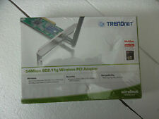 TRENDnet Wireless-G PCI Adapter 802.11b/g 64/128-Bit 54Mbps 2.4GHz TEW-423PI NEW