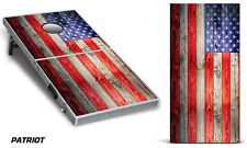 Cornhole Bean Toss Game Corn Hole Vinyl Wrap Decal USA American Flag 2-Pack