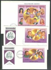 Caribbean Responsible Herrickstamp Barbuda Sc.# 1491-93 Country Music Stamp Sheetlets