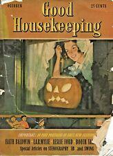 OCTOBER 1938 GOOD HOUSEKEEPING MAGAZINE VINTAGE ISSUE HALLOWEEN RARE