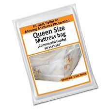 Queen Mattress Bag Cover for Moving or Storage - 5 Mil Heavy Du. Free Shipping