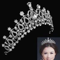 Crystal Rhinestone Hair Headband Tiara Prom Pageant Crown Comb Bridal Wedding