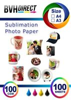 A4 , A3 Sublimation Paper Transfer Paper for Heat Press and Mug Press 100 GSM
