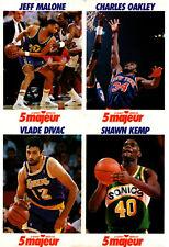1992 5 majeur Cards Uncut # NNO Malone-Oakley-Divac-Kemp