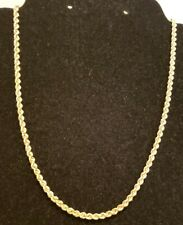 """14k Yellow Gold Rope Necklace,  22""""L,  6.7 Grams"""