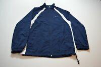 Vintage Nike Windbreaker Jacket Size XL Blue Full Zip Embroidered Swoosh Mens