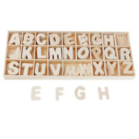 156 Stücke Alphabet ABC mini Holzbuchstaben Natur Deko Basteln scrapbooking