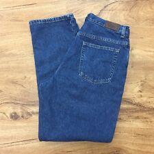 LL Bean Relaxed Fit Flannel Lined Jeans High Waist 100% Cotton Women's 14 Reg