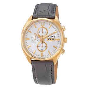 Bulova Surveyor Chronograph Quartz Silver Dial Watch 97C108